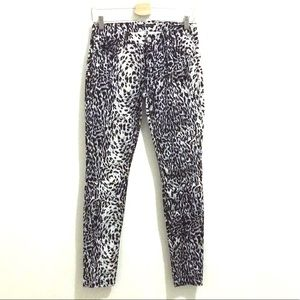 7 For All Mankind animal print sz 28 Like New